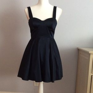Forever 21 Navy Satin Party Dress s/p